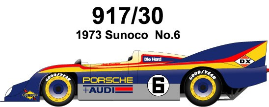 1/24 Kit Porsche 917/30 sunoco 1973 model factory hiro k287