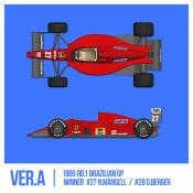 1/43 Maquette FERRARI F1 89 (640) GP BREZIL -  model factory hiro  K783 COMING SOON