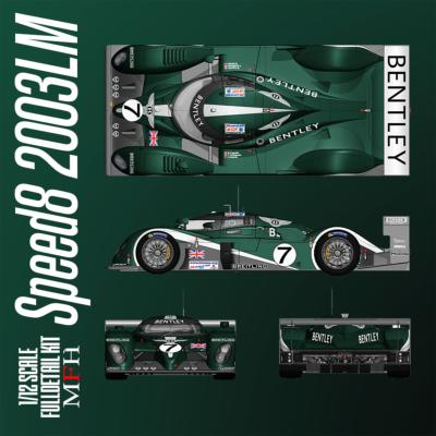 1/24 Maquette en Kit BENTLEY SPEED 8 Le Mans 2003 model factory hiro  K759