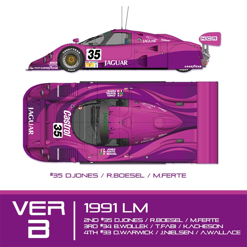 1/24 kit Jaguar XJR 12 le mans 1991 . model factory hiro k684