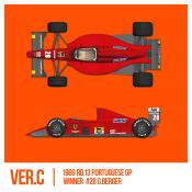 1/43 Maquette FERRARI F1 89 (640) GP PORTUGAL -  model factory hiro  K785 COMING SOON