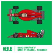 1/43 Maquette FERRARI F1 89 (640) GP HONGRIE -  model factory hiro  K784 COMING SOON