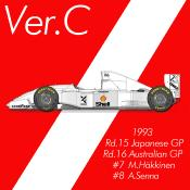 1/43 Maquette Mc LAREN MP4/8  JAPAN 1993 model factory hiro  K78